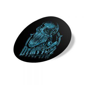 Samolepka Blue Gorgy - kulatá